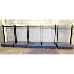 "Qty 5 Black Clothing Racks w/ Rolling Base 36"" x 36"" x 60""H"