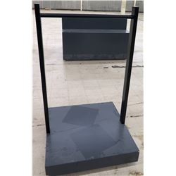 "Clothing Rack with Rolling Base 36"" x 36"" x 60""H"