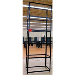 "Tall Metal 5-Tier Display Shelving Unit (with 6 glass shelving panels) 36"" x 18"" x 103""H"