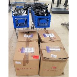 Qty 4 Boxes & 2 Carts Mainetti Retail Solutions Black & White Hangers