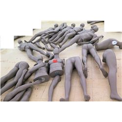 Multiple Misc Gray Mannequin Parts Unassembled