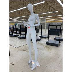 Poseable Female Mannequin with Base, 6-Foot, 6 Inches Tall