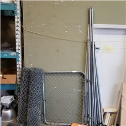 CHAIN LINK GATE, FENCING, AND POSTS