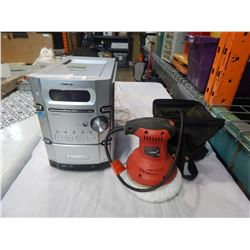 JOBMATE ROTARY POLISHER AND SONY MICRO HIFI SYSTEM