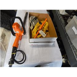 ELECTRIC HEDGE TRIMMER EXTENSION CORD AND POWER BAR