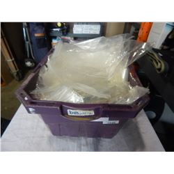 PURPLE TOTE OF PLASTIC BAGS