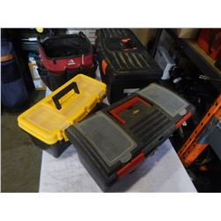 3 TOOL BOXES AND TOOL TOTE