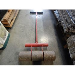 RED METAL LANDSCAPING ROLLER