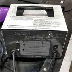 24 VOLT DUAL MODE AUTOMATIC BATTERY CHARGER