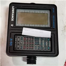 LOWRANCE X-50 FISH FINDER
