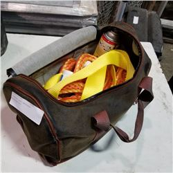 LEATHER CASE EMERGENCY ROADSIDE KIT