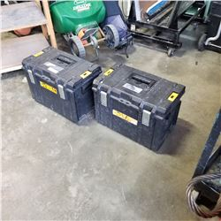 2 DEWALT HEAVY DUTY TOOLBOXES