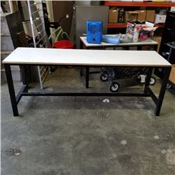 ALUMINUM BASE 6FT BY 30IN SHOP TABLE