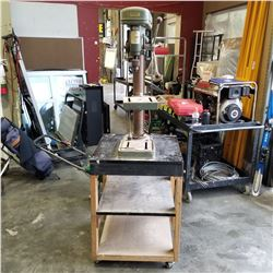 JET 13R DRILL PRESS ON ROLLING CART