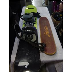 DUKES CREATURE 132 SNOWBOARD AND HOBIE SKATEBOARD DECK
