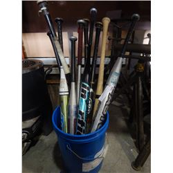 LOT OF SOFTBALL AND BASEBALL BATS