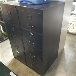 4 DRAWER BLACK METAL FILING CABINETS