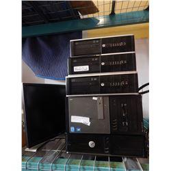 5 COMPUTER BOXES HP AND DELL MONITORS