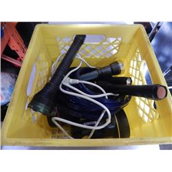 CRATE OF FLASH LIGHTS AND ROPE LIGHT