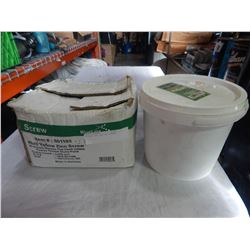 BUCKET AND BOX OF SCREWS