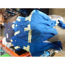 DAKOTA SIZE XL THERMAL COVERALLS AND 2 BLUE HAZCO COVERALLS