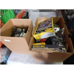 2 BOXES OF TOOLS AND KIDS TOYS