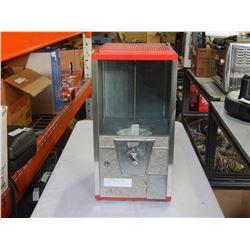 OAK BRAND RED METAL CANDY MACHINE