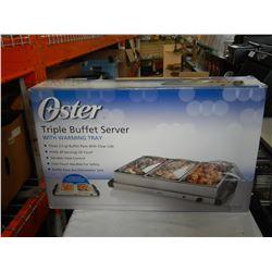 OSTER TRIPLE BUFFET SERVER W/ WARMING TRAY