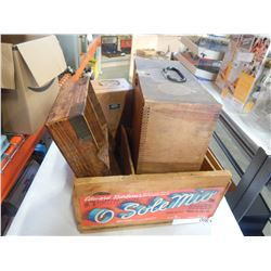 LOT OF WOOD CRATES