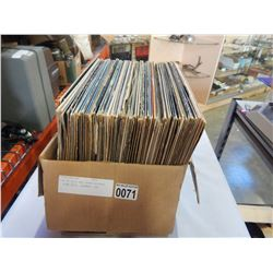 BOX OF ROCK AND OTHER RECORDS - PINK FLYD, JOURNEY, ETC
