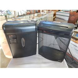 2 PAPER SHREDDERS ROYAL AND CASEMATE