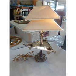 METAL TRIANGULAR TABLE LAMP