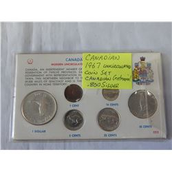 1967 CANADIAN UNCIRCULATED COIN SET CANADIAN CENTENNIAL .800 SILVER