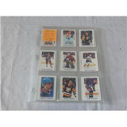 1988 OPEECHEE SET NHL HOCKEY STARS 1 TO 46, GRETZKY, LEMIEUX, ROY ETC
