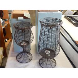 2 PARTY LITE WIRE CANDLE HOLDERS