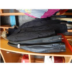 2 LEATHER JACKETS AND WINTER COAT