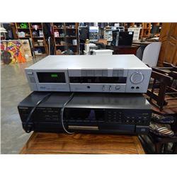 AKAI CASSETTE DECK AND TECHNICS CD CHANGER