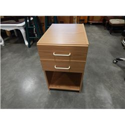 ROLLING 2 DRAWER NIGHT STANDS