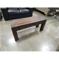 2 RECLAIMED LUMBER BENCHES