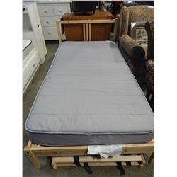 SINGLE SIZE PINE IKEA BEDFRAME AND MATTRESS