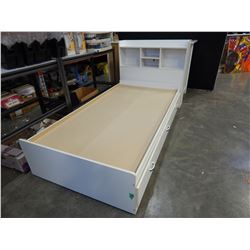 WHITE SINGLE SIZE 3 DRAWER BED