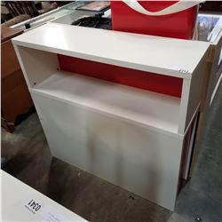 YOUTH WHITE AND RED HEAD BOARD W/ STORAGE