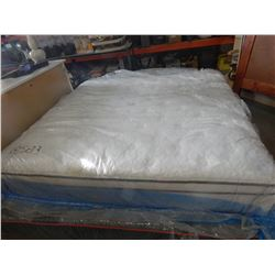 KING SIZE SEALY ADMIRAL EURO TOP MATTRESS, FLOOR MODEL DIRT SCUFFS