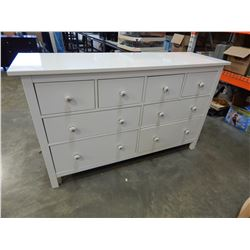 WHITE 7 DRAWER DRESSER W/ RESTORATION HARDWARE HANDLES