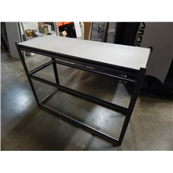 METAL SHELF WITH WOOD SHELF