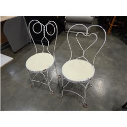 PAIR OF WHITE PAINTED ICE CREAM PARLOUR CHAIR