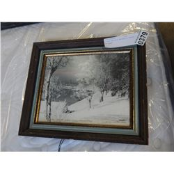 SIGNED WALLACE MACASKILL PHOTO IN FRAME