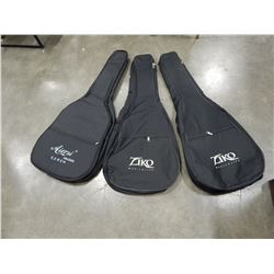 3 NEW GUITAR GIG BAGS SOFT-SIDED