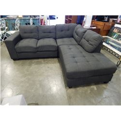 UPHOLSTERED GREY SECTIONAL SOFA