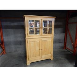 2 PIECE MAPLE CHINA CABINET